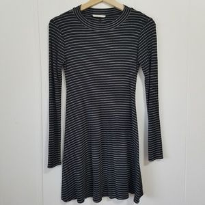 Lush | Black & White Long Sleeved Dress | SZ M